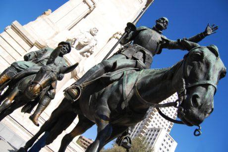 bronz, socha, sochárstvo, umenie, Monument, modrá obloha, medzník, exteriér, mesto