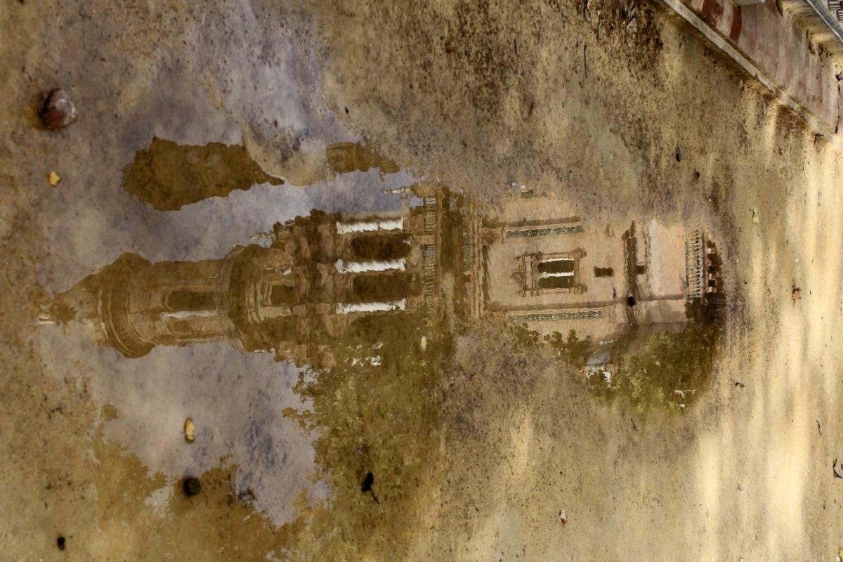вода, дъжд, асфалт, улица, градски,