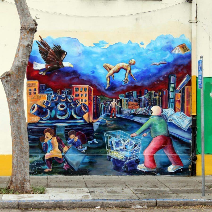 хора, улица, графити, изкуство, на открито, дизайн, колоритен, стенопис