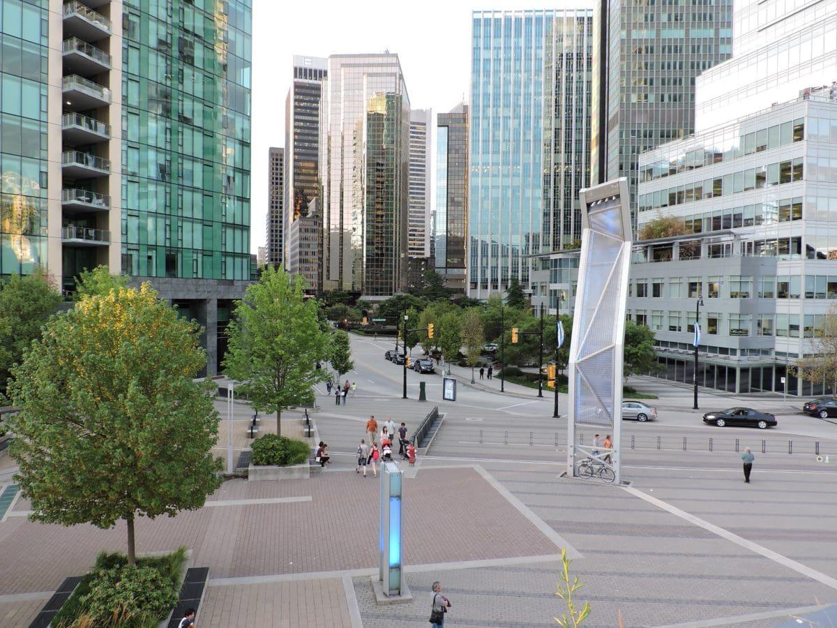 architecture, traffic, street, downtown, urban, city, modern city