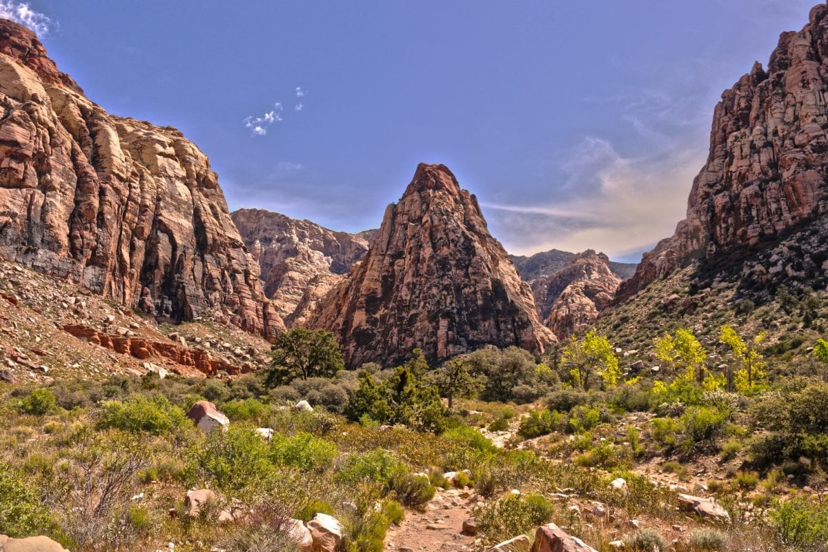mountain, nature, landscape, sandstone, blue sky, valley, canyon, outdoor