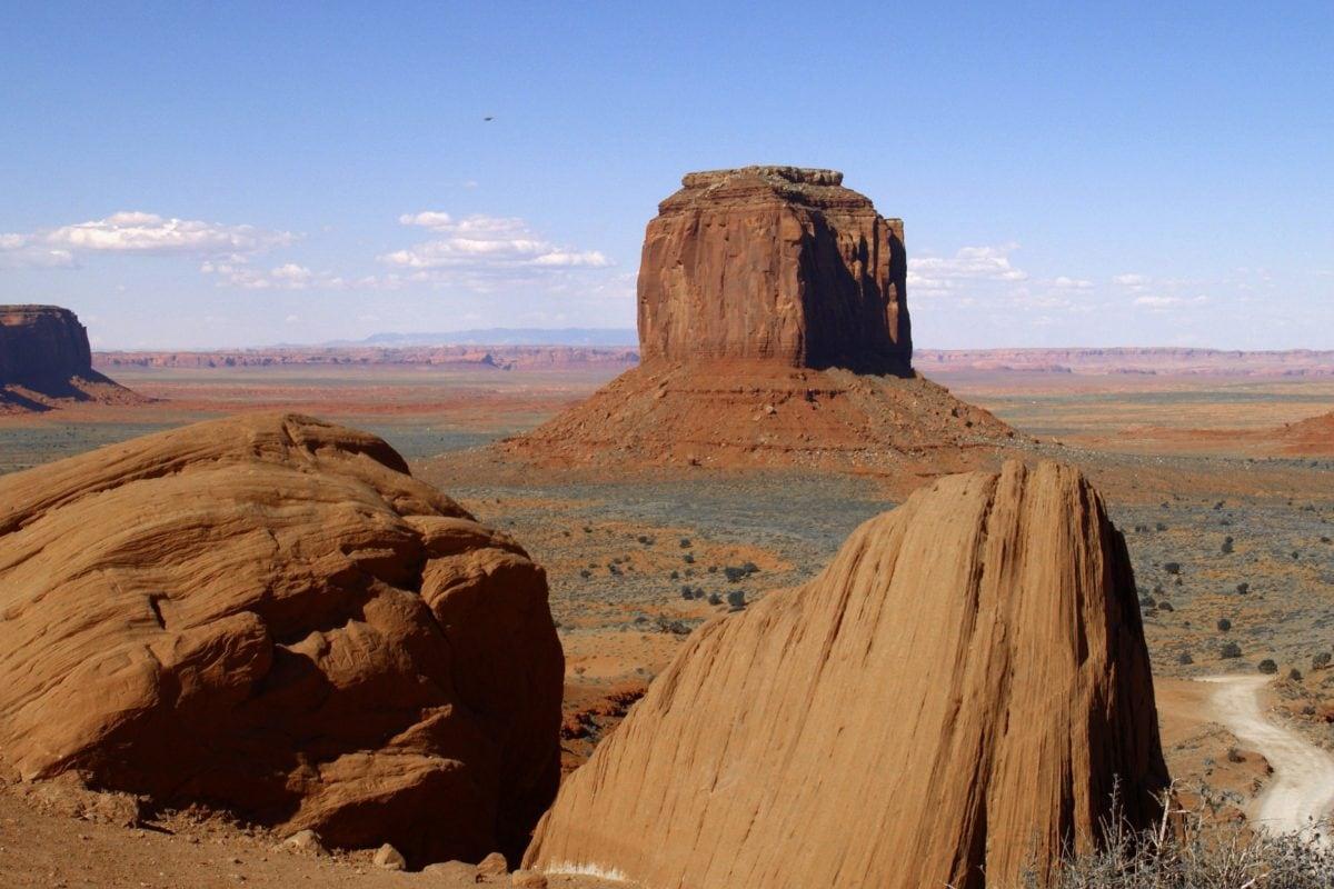 autiomaa, hiekka kivi, sininen taivas, hiekka kivi, maisema, kuiva, geologia, Knoll, Canyon