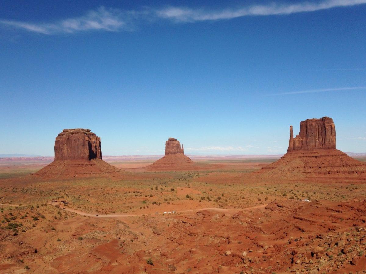 wasteland, geology, blue sky, sandstone, canyon, dry, landscape, desert