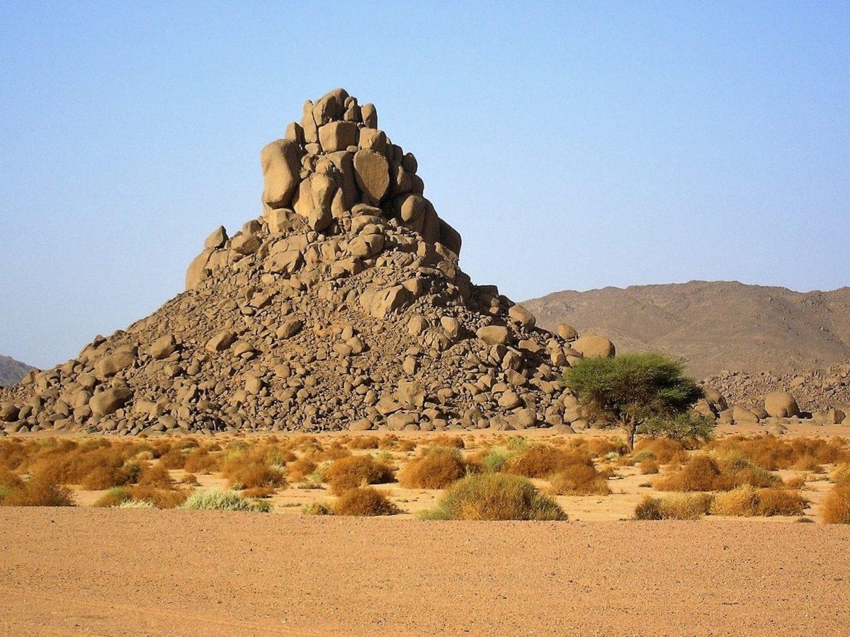 μπλε ουρανός, τοπίο, έρημος, λόφος, άμμος, ξηρός, Υπαίθριος, βουνό