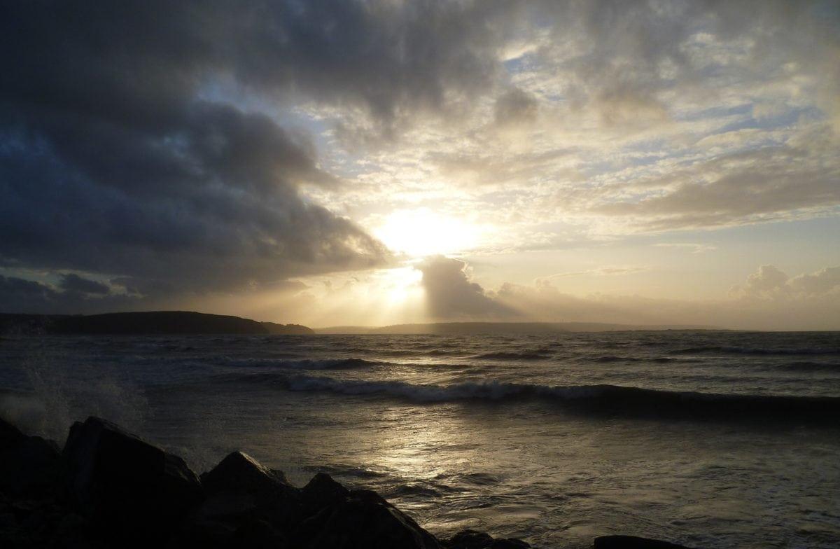 dawn, seascape, shadow, dusk, sunset, sea, beach, ocean, water, sun