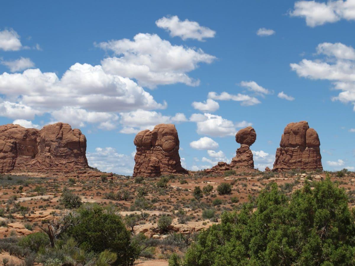 krajolik, pustinja, plavo nebo, kanjon, Knoll, erozija, geologija, pješčenjaka, planina
