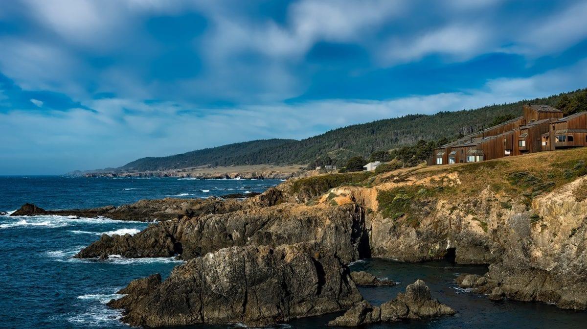 tengerpart, kék ég, tenger, víz, nyári szezon, strand, óceán, tengerpart, táj, tengerpart