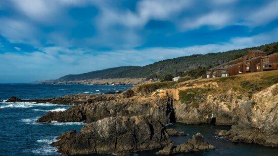 rivage, ciel bleu, mer, eau, saison estivale, plage, océan, côte, paysage, littoral