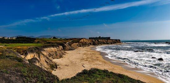 sea, water, landscape, blue sky, nature, seashore, summer season, beach, ocean