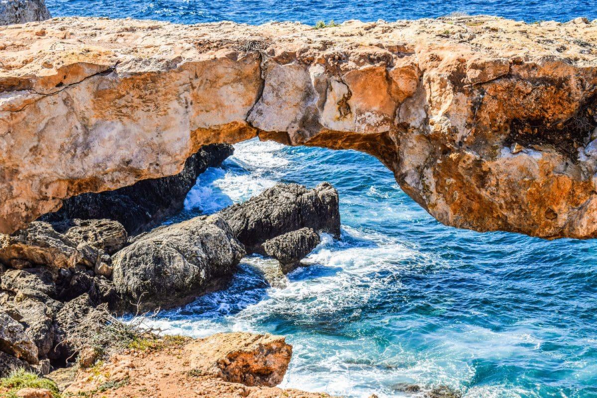 kő, óceán, tengerpart, dagály, öböl, táj, víz, tengerpart, tenger, természet
