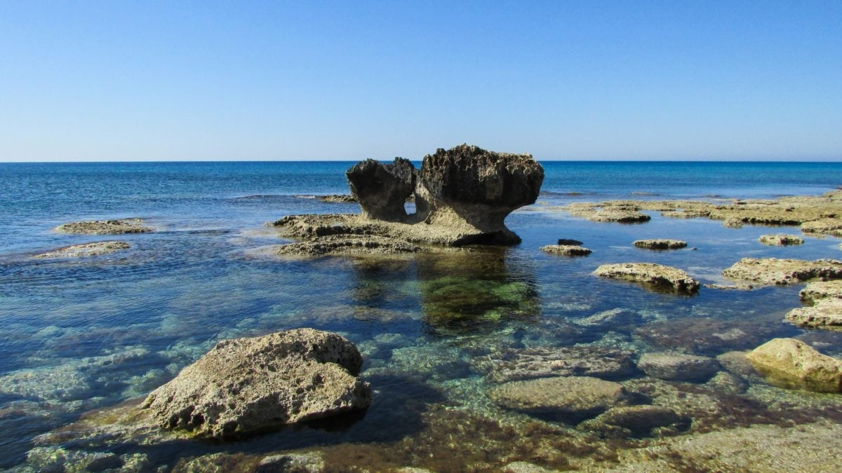 mer, eau, île, ciel bleu, rivage, océan, lagon, côte, paysage, baie