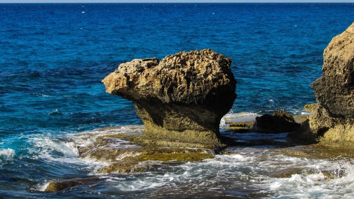 water, nature, ocean, limestone, peninsula, seashore, sea, geology, coast, coastline