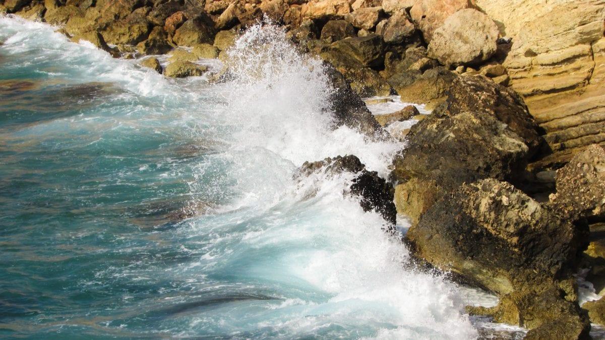 вода, лято, мокър, прилив, залив, природа, океан, море, вълна, плаж