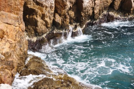 nature, water, landscape, geology, limestone, ocean, sea, stone, coast