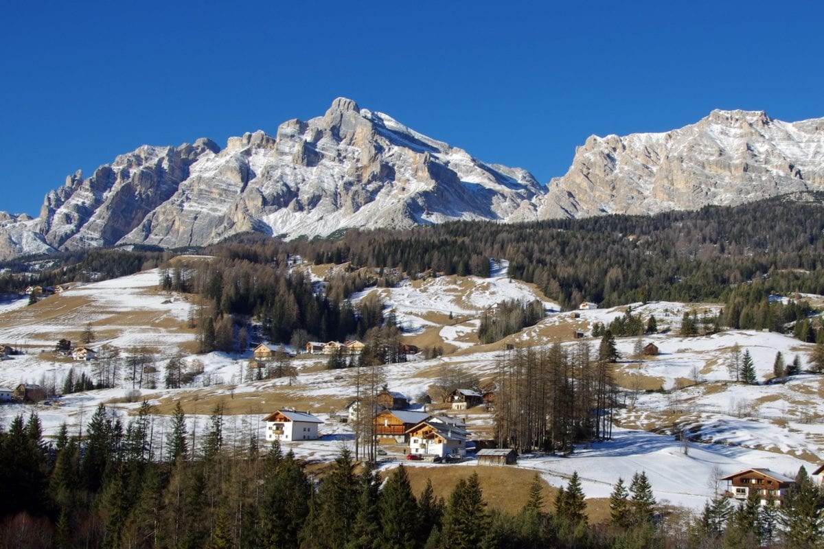 zima, sníh, Hora Peak, krajina, ledovec, modrá obloha, venkovní
