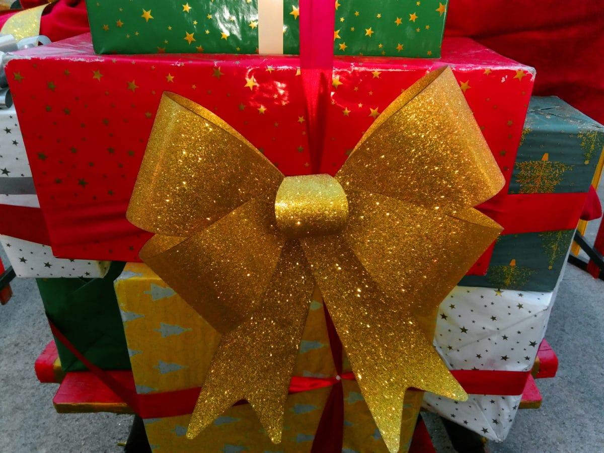 krabice, vánoční, barevné, dárek, svátek, pás karet, strana, překvapení