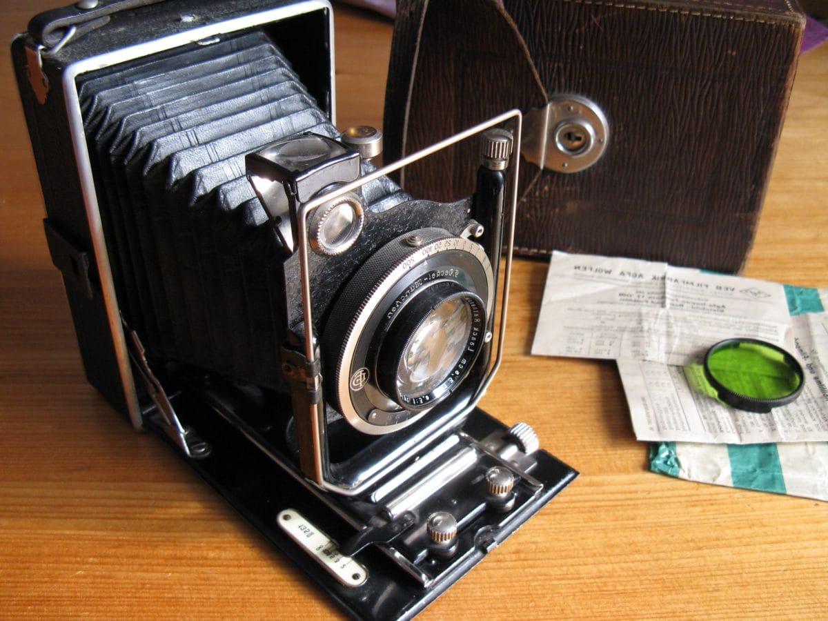 negatiivinen, nostalgia, valokuvastudio, retro, linssi, laitteet, kamera, mekanismi