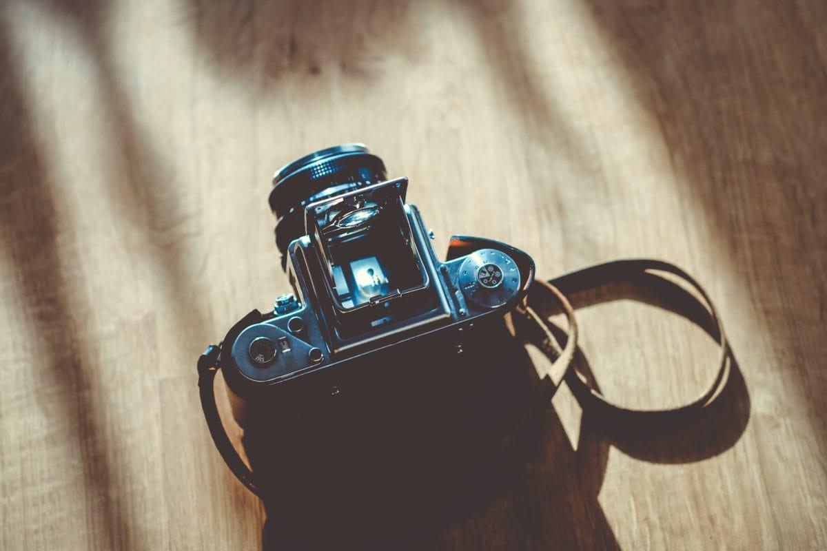 fotoaparát, zařízení, Retro, technologie, čočka, staré, přístroj, muž