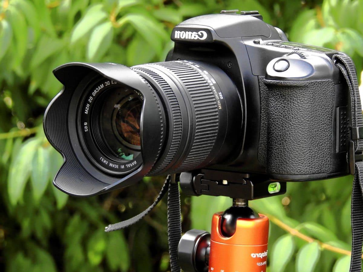 kamkorder, detalj, oprema, vanjski, fotografije, profesionalno, kamera, film