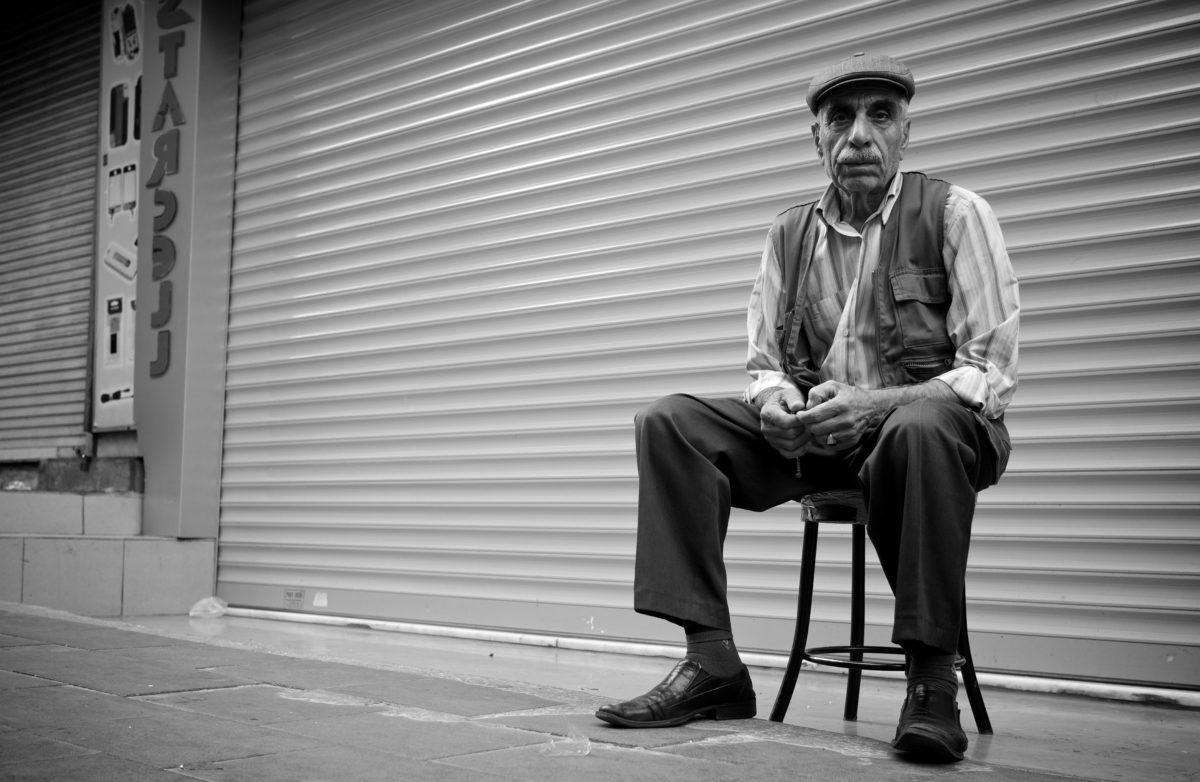 Farfar, gamla, gammaldags, porträtt, Senior, person, personer, man