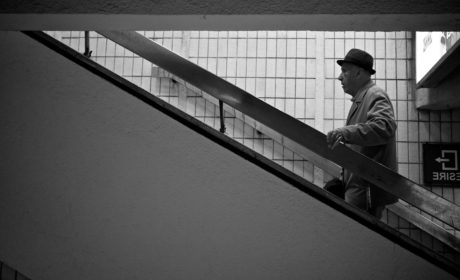 elderly, grandfather, man, people, structure, monochrome, city, architecture
