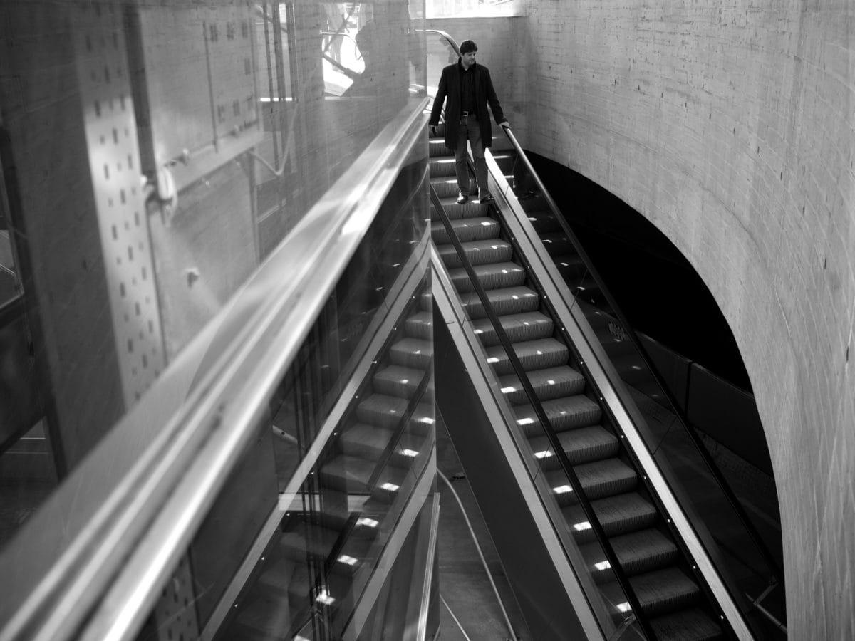 elevator, architecture, train, escalator, city, locomotive, railway, street