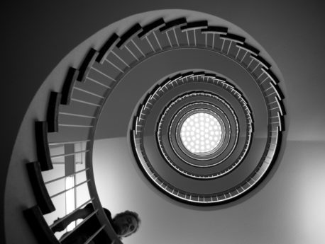 architectural style, construction, staircase, stairs, abstract, illustration, monochrome, technology