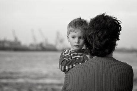 Familj, nostalgi, son, personer, förälder, barn, Pojke, unge