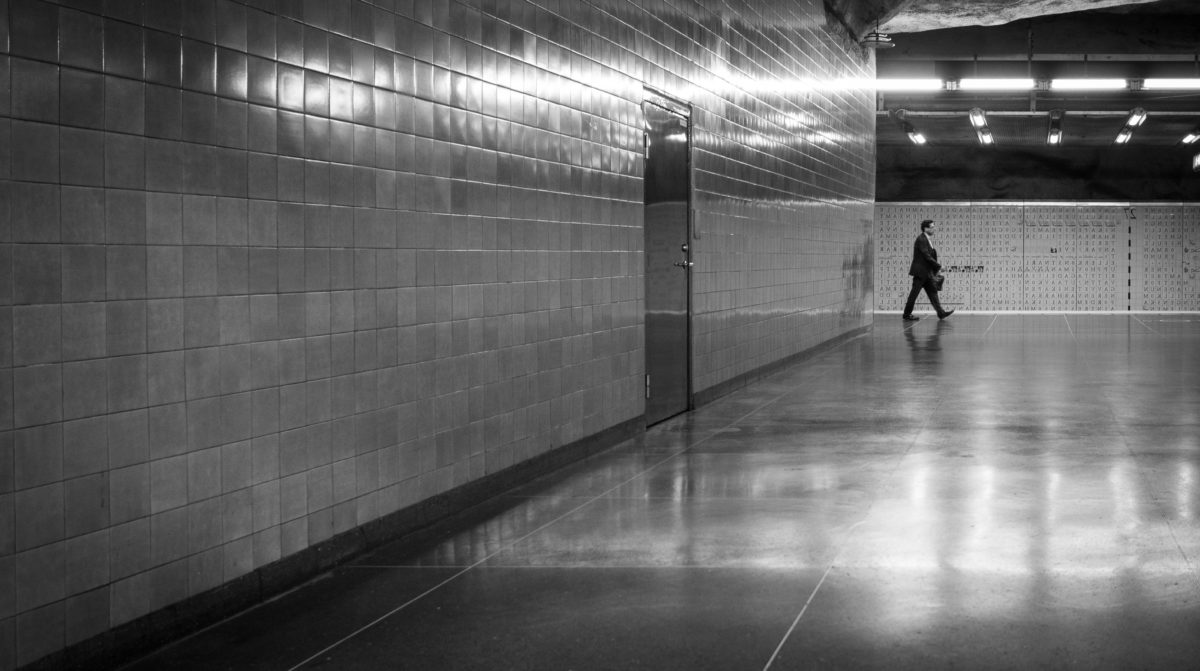 reflection, monochrome, city, airport, people, urban, man, tunnel