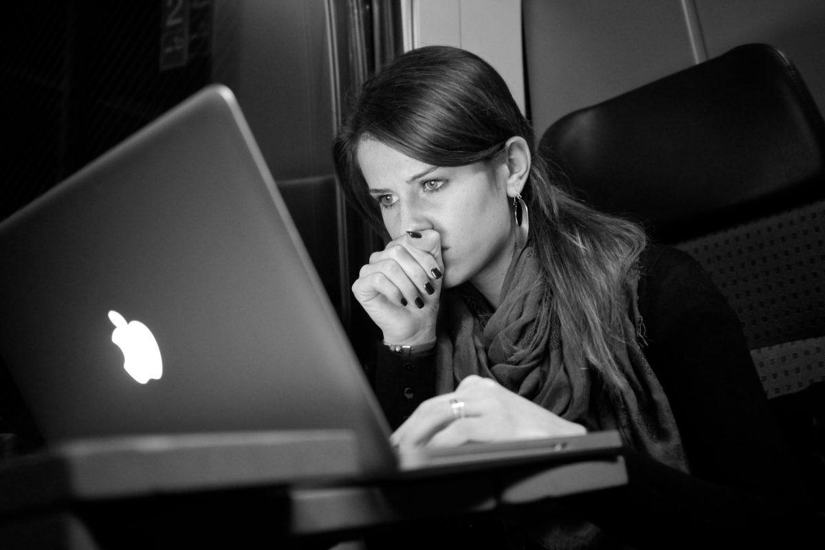 Geschäftsfrau, tragbarer Computer, Laptop, Computer, Notebook, Personal-computer, Internet, Technologie