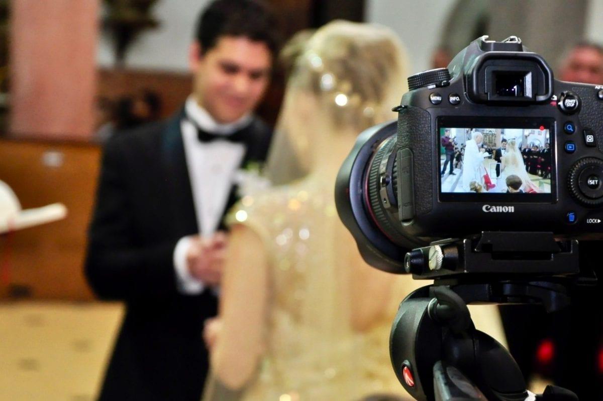 新娘, 仪式, 新郎, 摄影师, 相机, 设备, 人, 电影