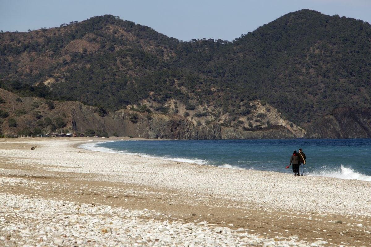 άνθρωπος, περπάτημα, Ακτή, Ωκεανός, στη θάλασσα, νερό, παραλία, κορυφογραμμή