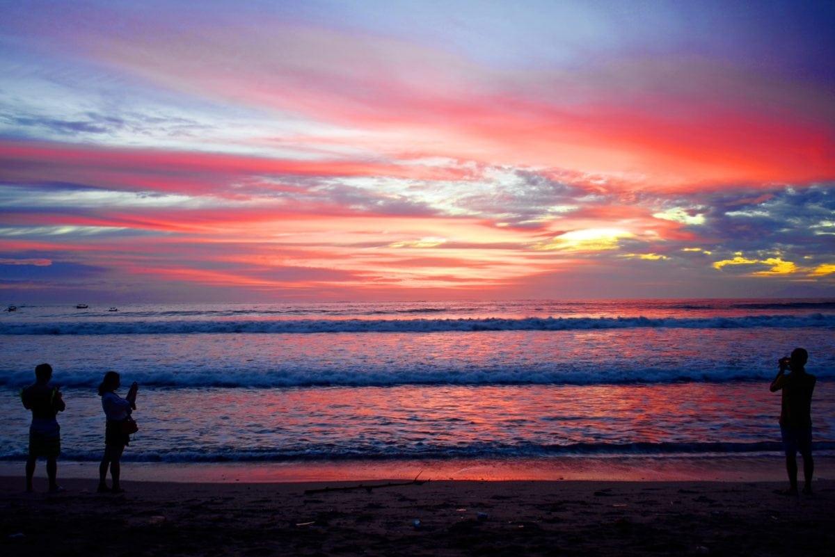 mặt trời mọc, Bình minh, hoàng hôn, Chạng vạng, nước, Bãi biển, Đại dương, đám mây