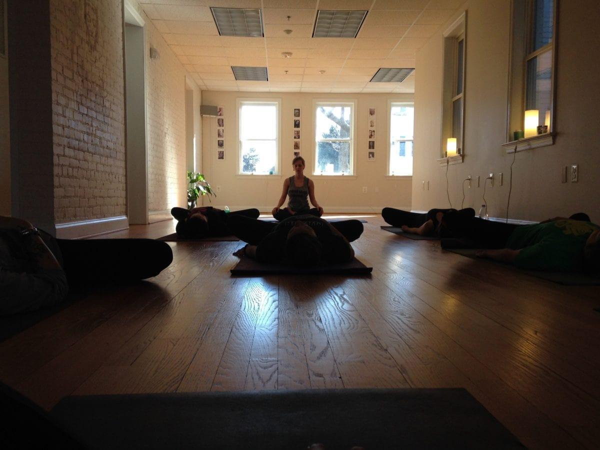 pretty girl, shadow, yoga, interior, hall, room, anteroom, furniture