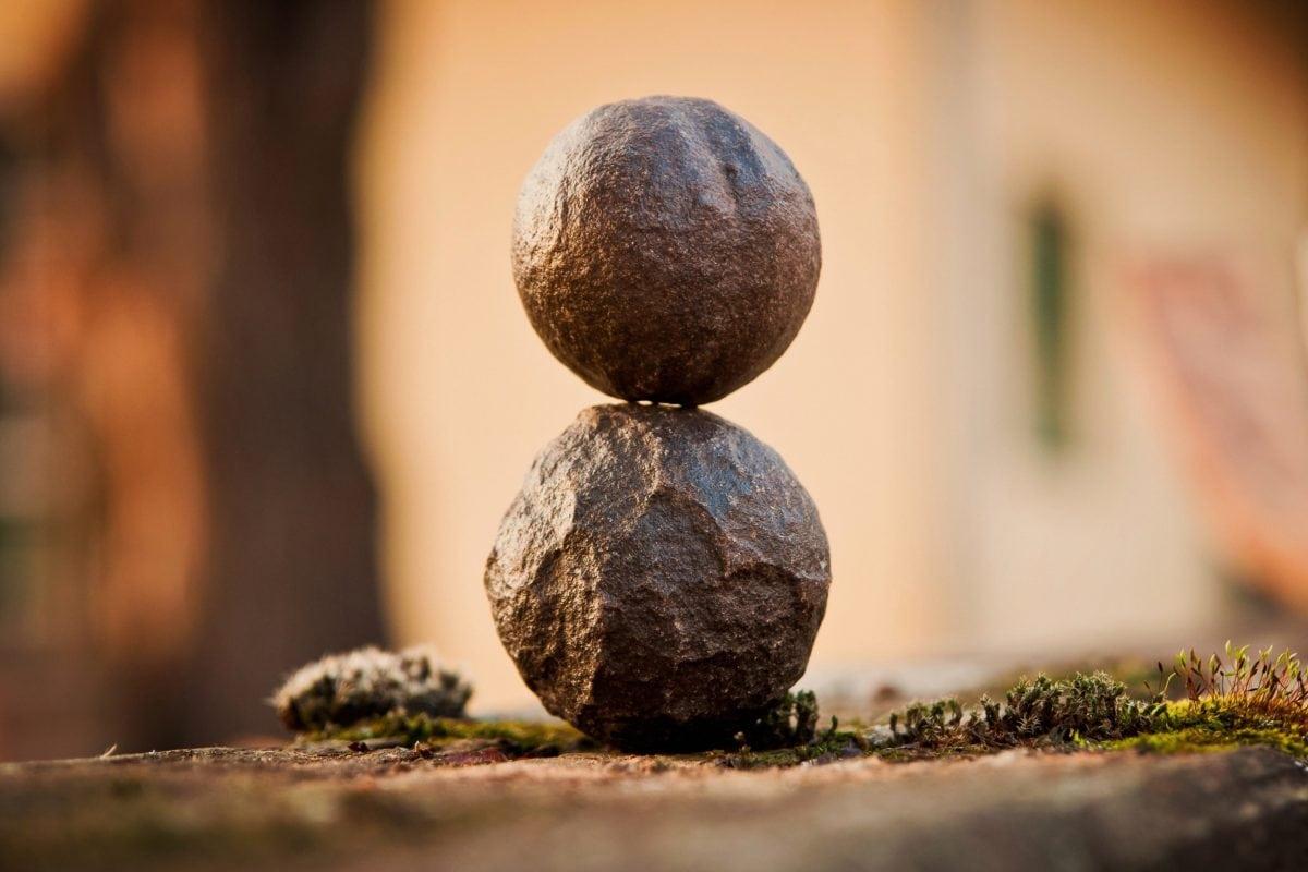 balans, objekt, position, positiva, naturen, trä, blad, solen