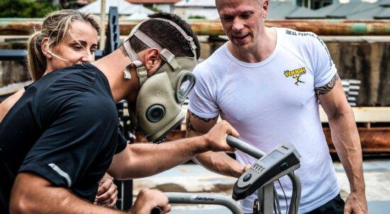身体活動, 物理試験, トレーナー, トレーニング プログラム, 男, 人々, 競争, 運動選手
