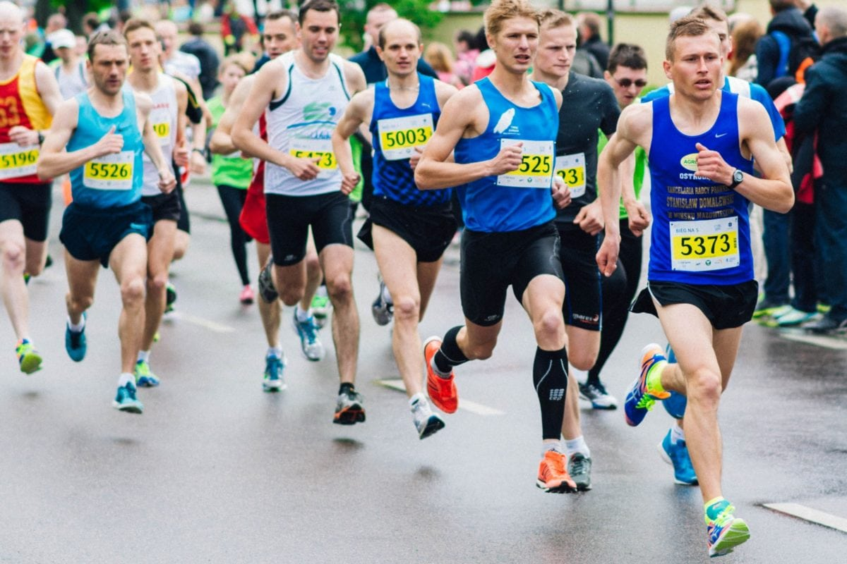 foot race, marathon, runner, race, competition, athlete, sport, fitness
