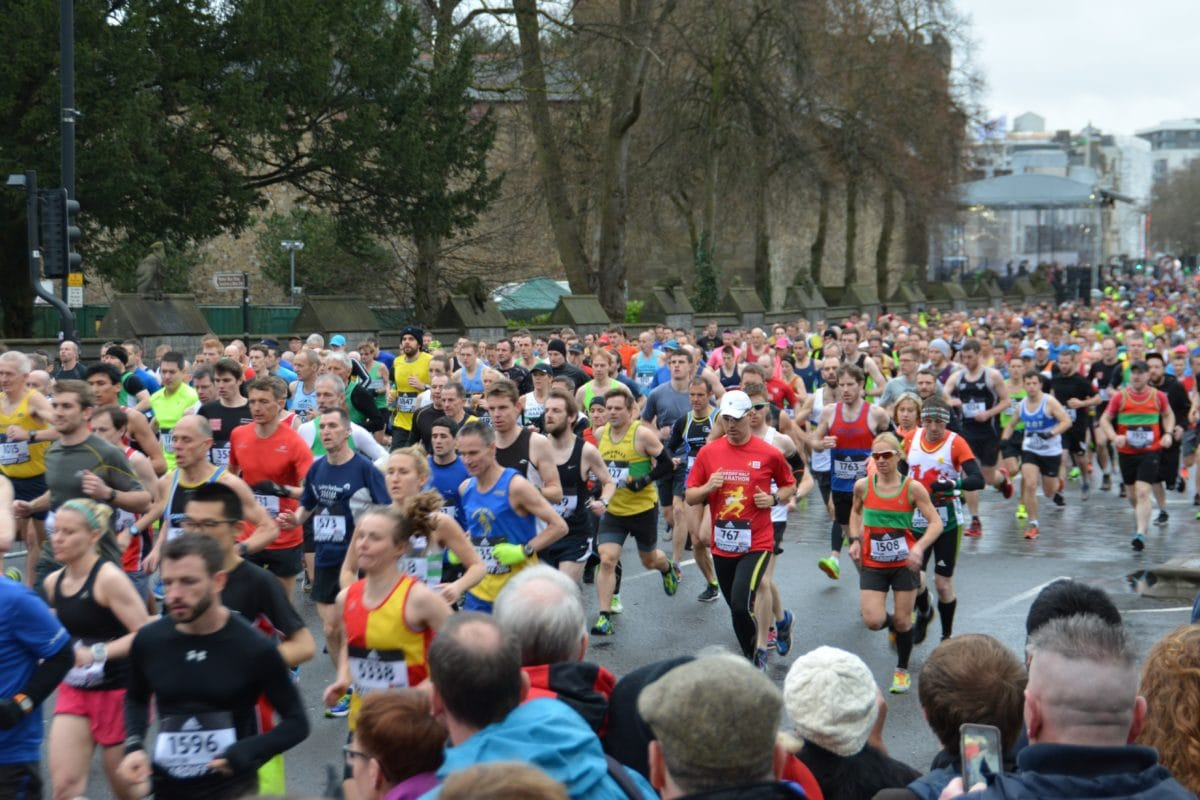 crowd, marathon, urban area, competition, runner, race, foot race, people