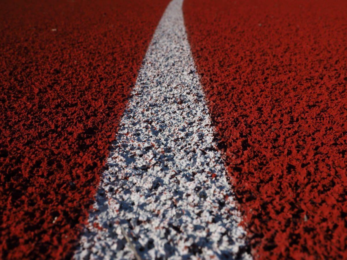 Olympiske, løbebane, mønster, asfalt, tekstur, pulver, jorden, mørk