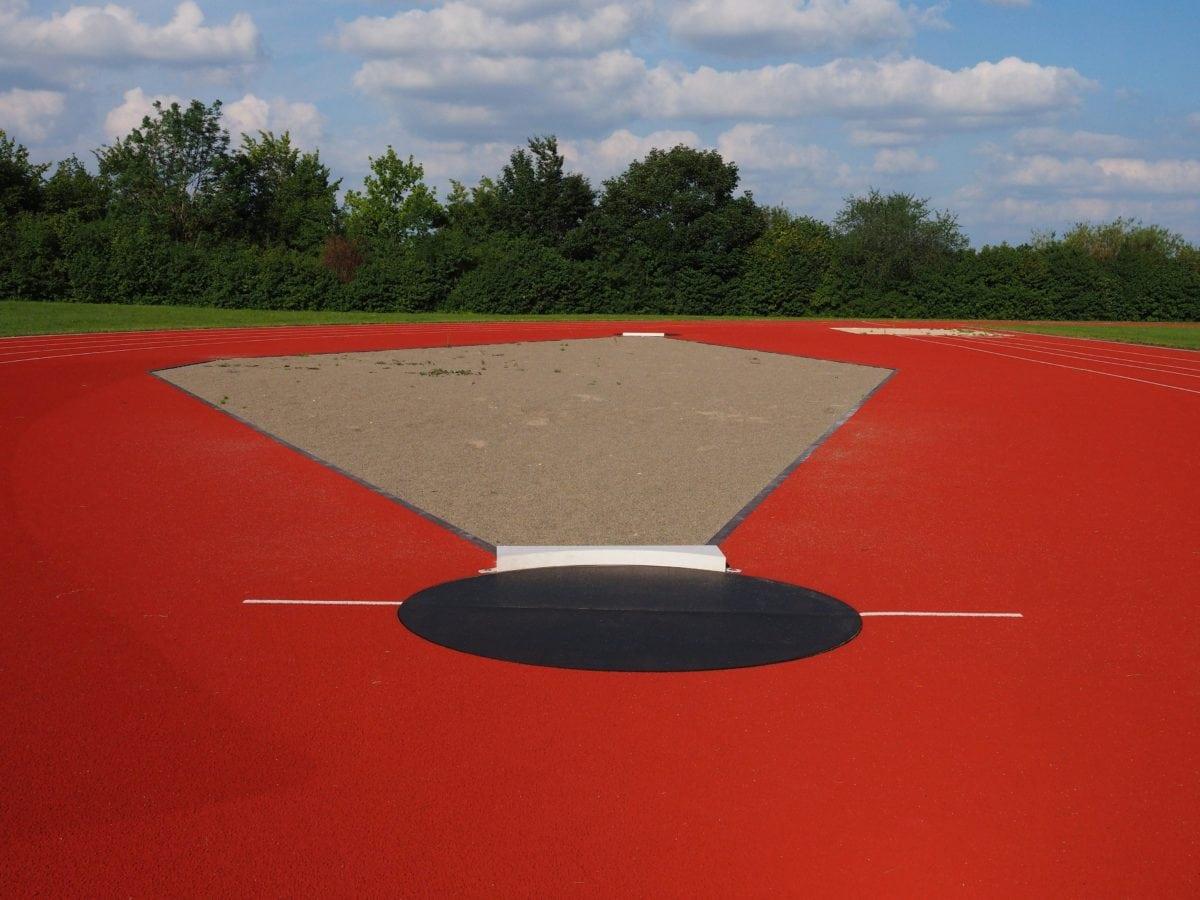 urheilullinen, sininen taivas, Olympic, urheilu, kilpailu, maisema, pilvi, ruoho