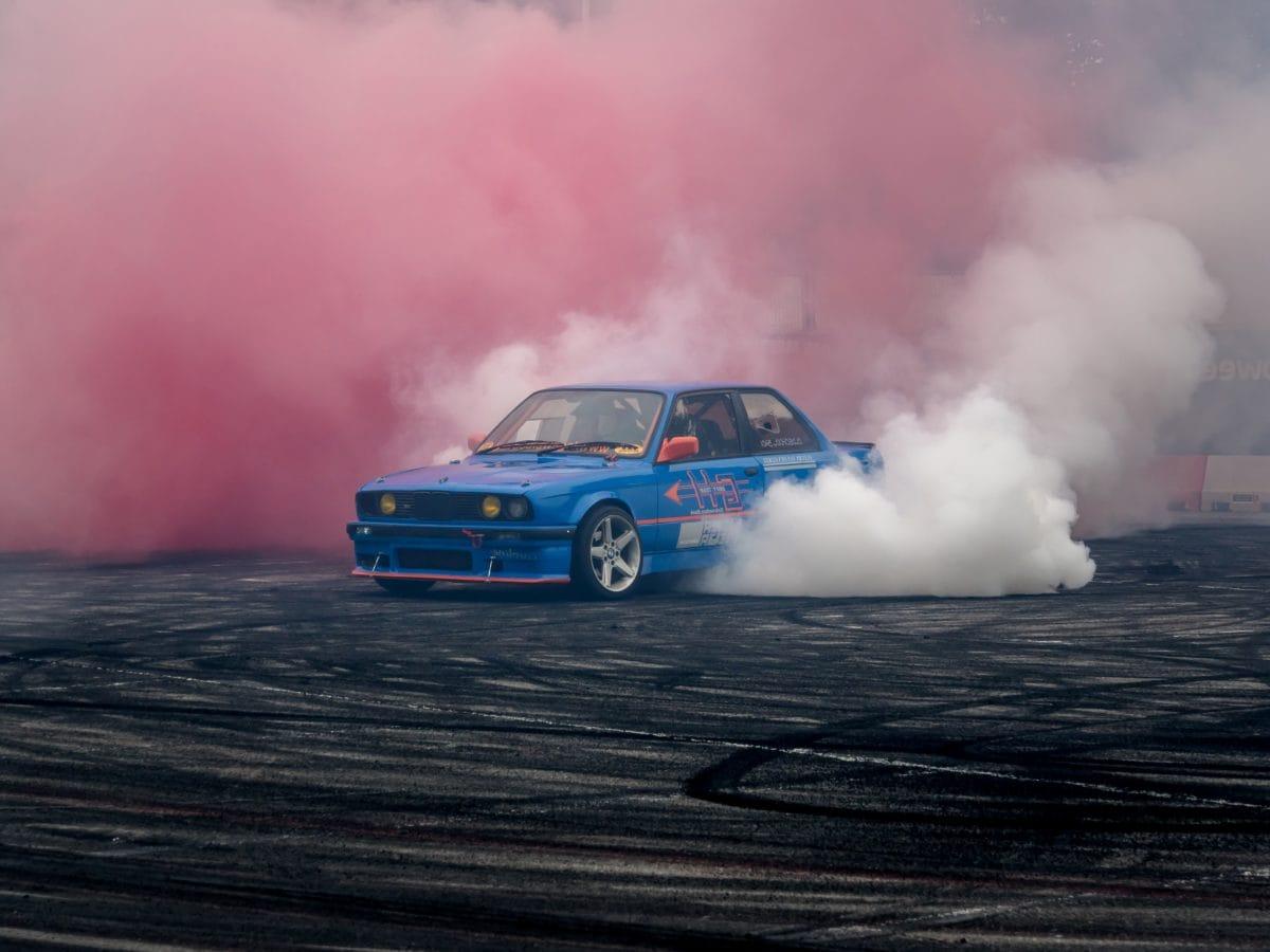 Auto, Fahrzeug, Rauch, Kondensation, Eruption, Nebel, Dampf, Landschaft