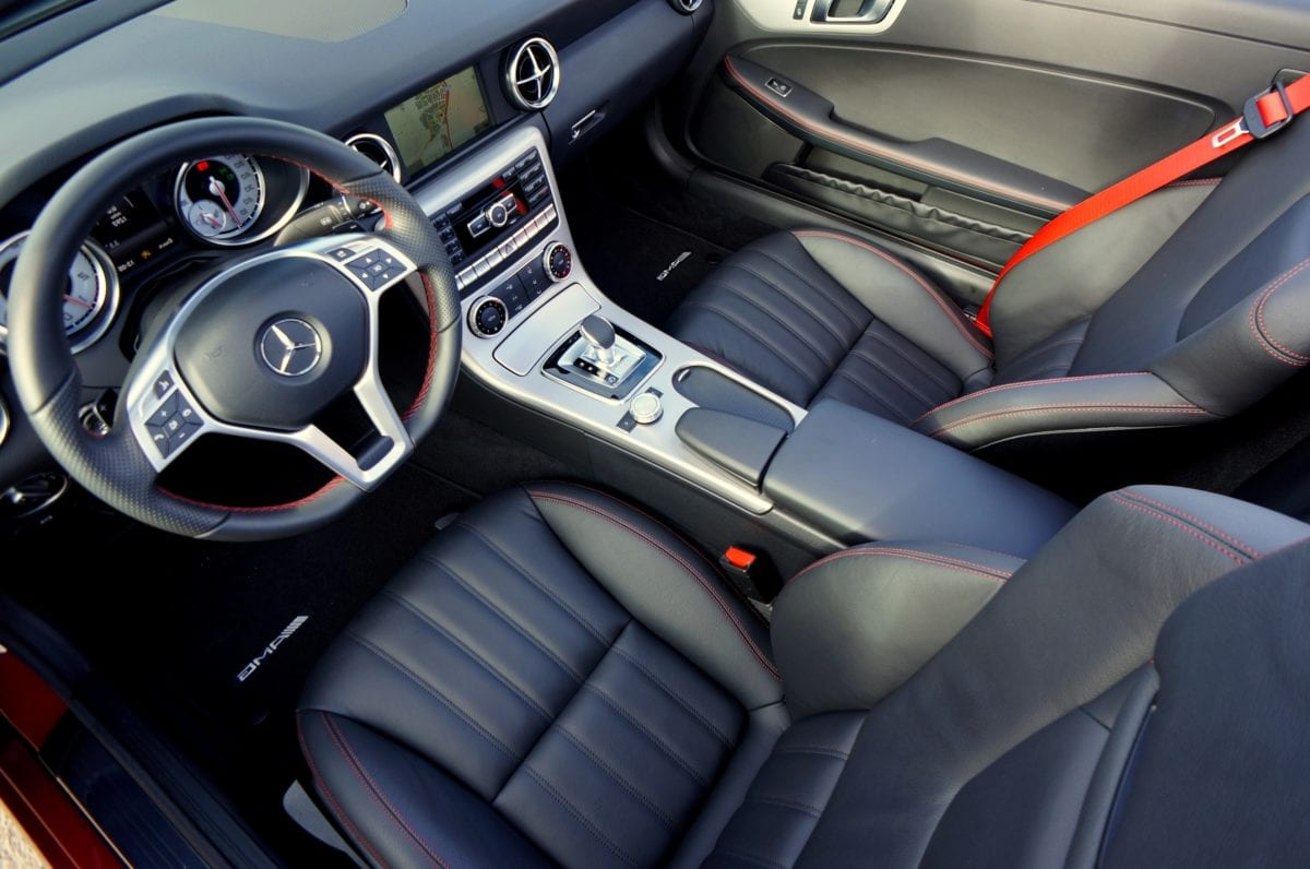 dashboard, expensive, leather, steering wheel, car, control, auto, transportation