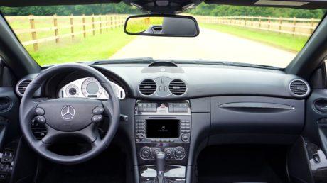 autosedačky, řídicí panel, Němčina, zrcadlo, Rychloměr, řízení, čelní sklo, kormidelní kolo