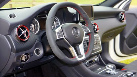 dashboard, gearshift, luxury, speedometer, windshield, steering wheel, car, vehicle
