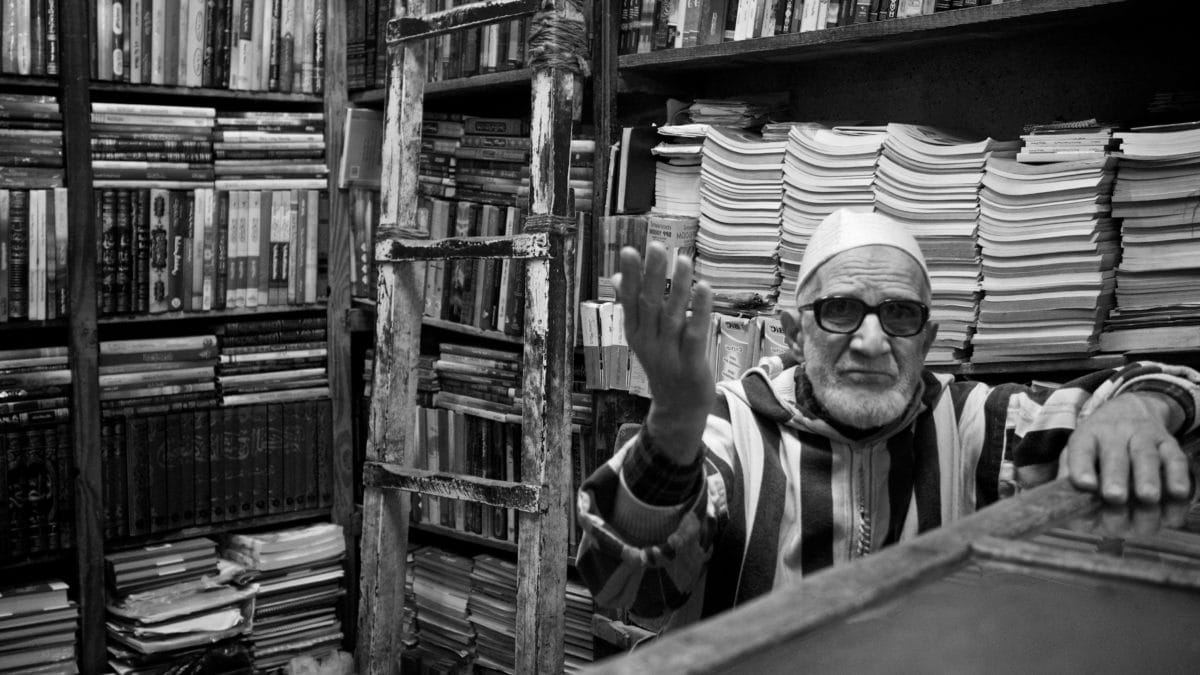 dedko, Knižnica, Obchod, kníhkupectvo, ľudia, vzdelávanie, Polica, muž