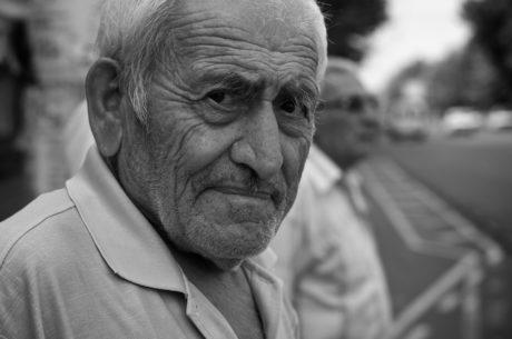 祖父, 高齢者, 縦方向, 古い, 成熟しました。, シニア, 男, 人々