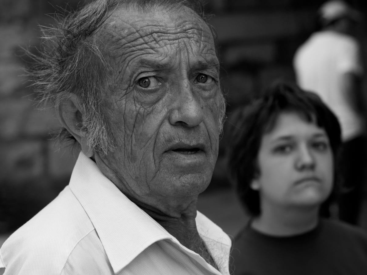 umirovljenik, starije osobe, ljudi, djed, osoba, zreli, portret, čovjek
