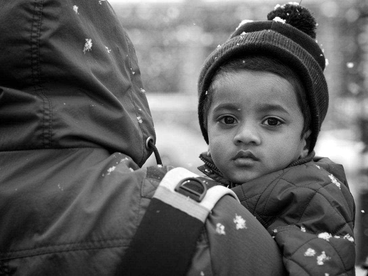rodiče, syn, portrét, dětství, lidé, dítě, interakce, ulice