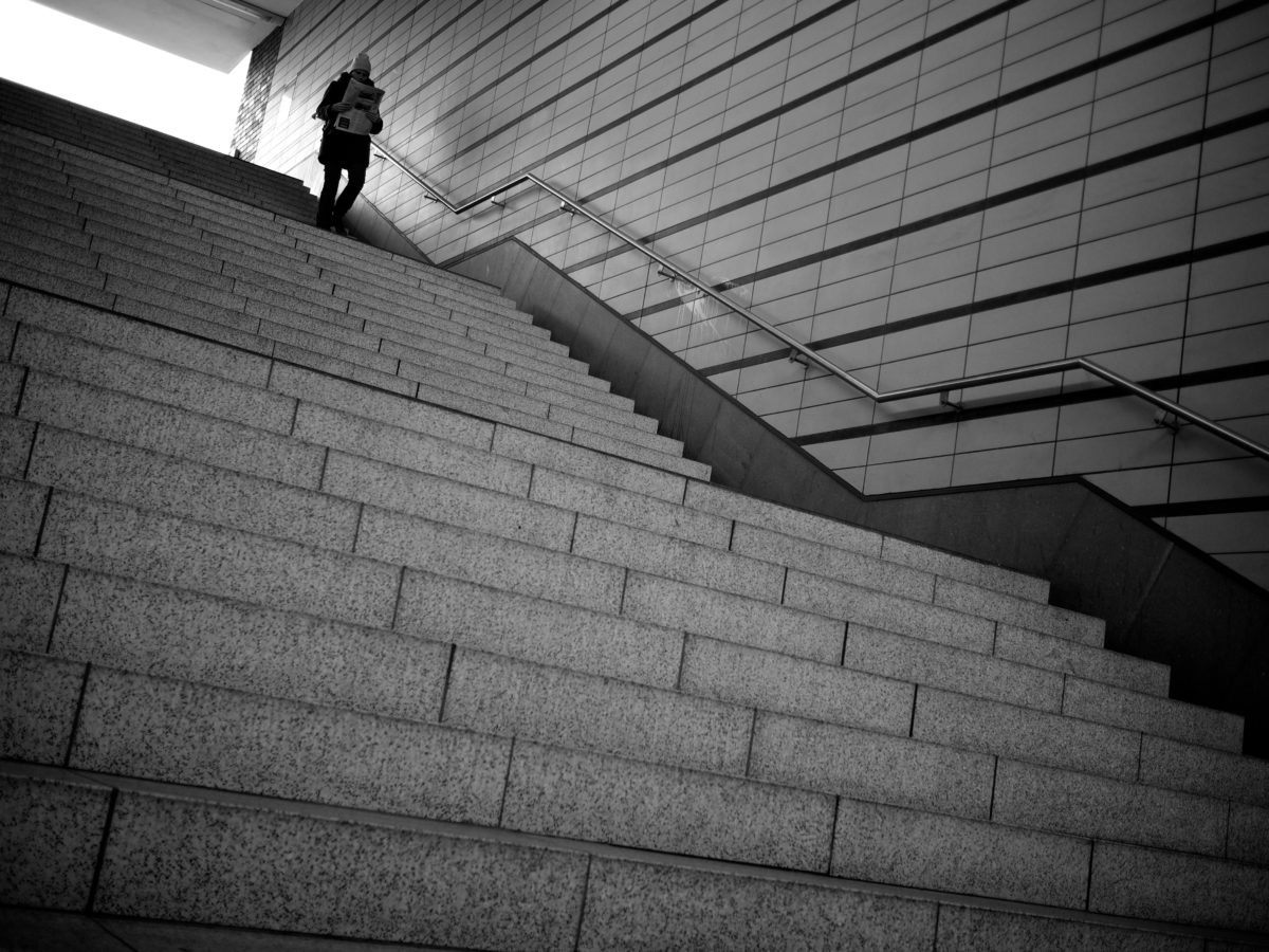 schodisko, schodisko, podzemí, Monochromatický, budova, Nástenné, Architektúra, mesto