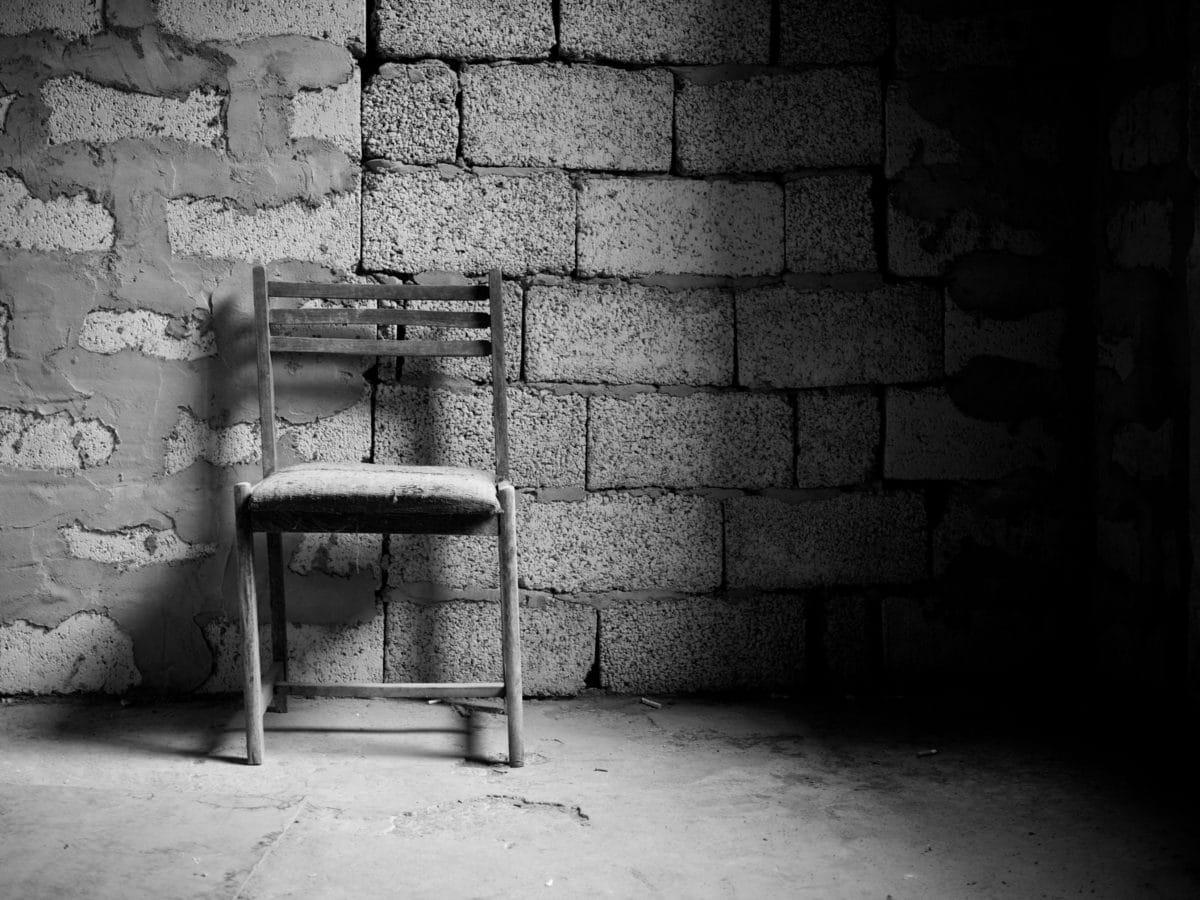 zid, stolica, crno-bijeli, stari, cementa, beton, ulica, soba